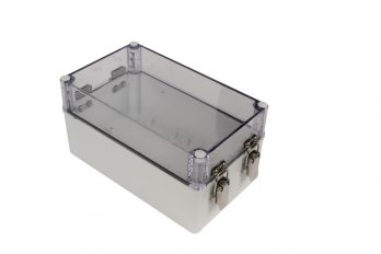 Fiberglass Box with Self-Locking Latch and Clear Cover PTH-22706-LC closed