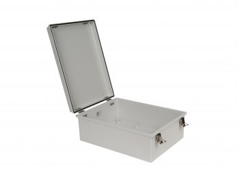 Fiberglass Box with Self-Locking Latch PTH-22730-L open