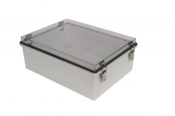 Fiberglass Box with Self-Locking Latch and Clear Cover PTH-22730-LC closed
