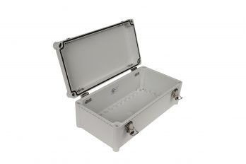 Fiberglass Box with Self-Locking Latch PTH-22448 open