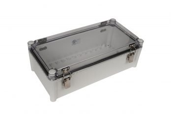 Fiberglass Box with Self-Locking Latch and Clear Cover PTH-22448-C closed