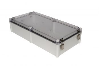 Fiberglass Box with Self-Locking Latch and Clear Cover PTH-22758-LC closed