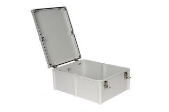 Fiberglass Box with Self-Locking Latch PTH-22760-L open