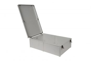 Fiberglass Box with Self-Locking Latch PTH-22762-L open