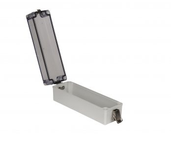 Fiberglass Box with Self-Locking Latch and Clear Cover PTH-22780-LC open