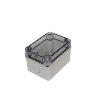 Fiberglass Box with Knockouts and Clear Cover PTK-18420-C closed