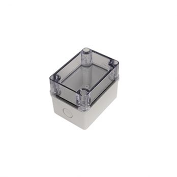 Fiberglass Box with Knockouts and Clear Cover PTK-18421-C closed