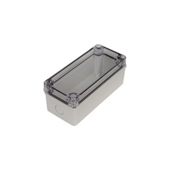 Fiberglass Box with Knockouts and Clear Cover PTK-18424-C closed
