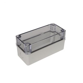 Fiberglass Box with Knockouts and Clear Cover PTK-18425-C closed