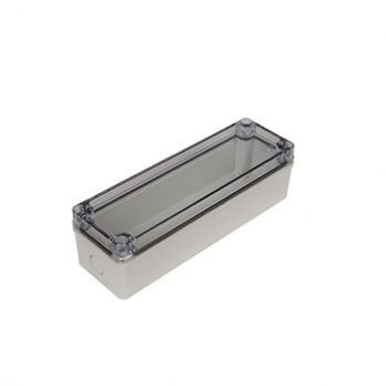 Fiberglass Box with Knockouts and Clear Cover PTK-18426-C closed