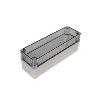 Fiberglass Box with Knockouts and Clear Cover PTK-18427-C closed
