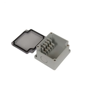 Junction Box 4 Side Terminal Blocks with Clear Cover PTT-10478-C