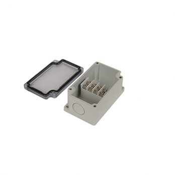 Junction Box 4 Central Terminal Blocks with Clear Cover PTT-10482-C