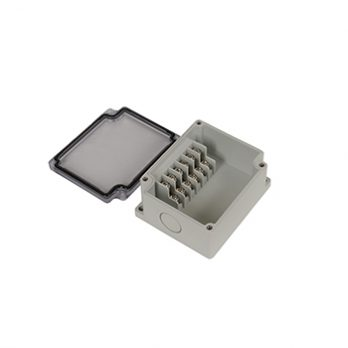 Junction Box 6 Side Terminal Blocks with Clear Cover PTT-10680-C