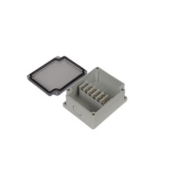 Junction Box 6 Central Terminal Blocks with Clear Cover PTT-10681-C