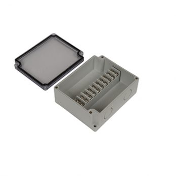 Junction Box 10 Central Terminal Blocks with Clear Cover PTT-11084-C