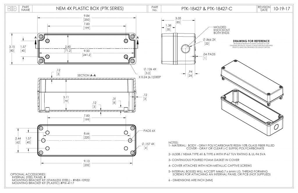 PTK-18427 Dimensions