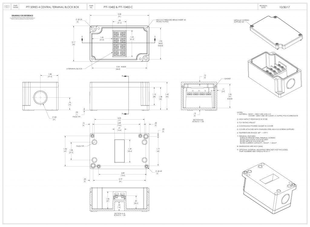 PTT-10482 Dimensions