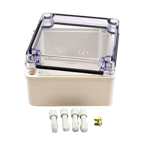 Fiberglass Box With Clear Cover
