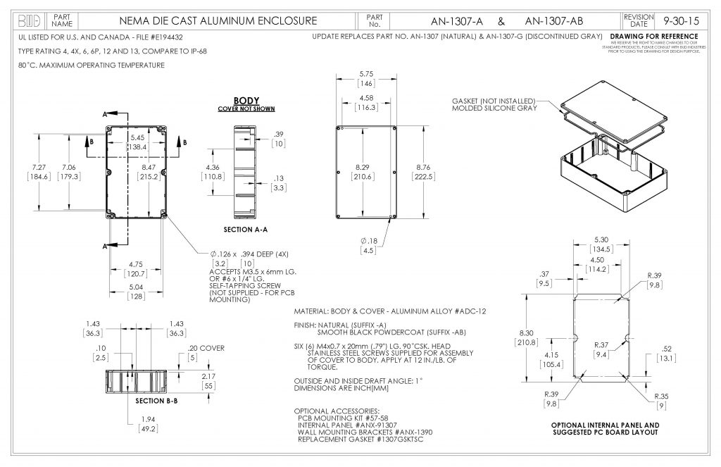 AN-1307-A Dimensions