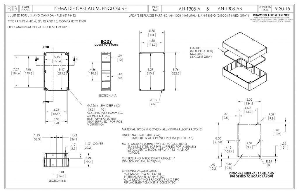 AN-1308-A Dimensions