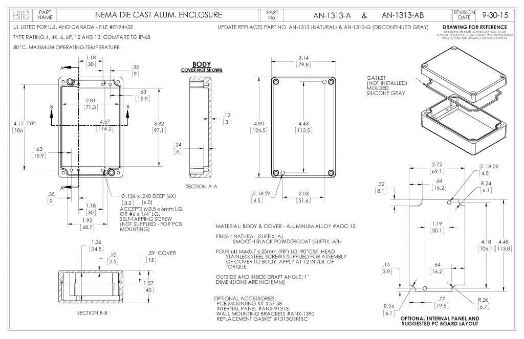 AN-1313-A Dimensions