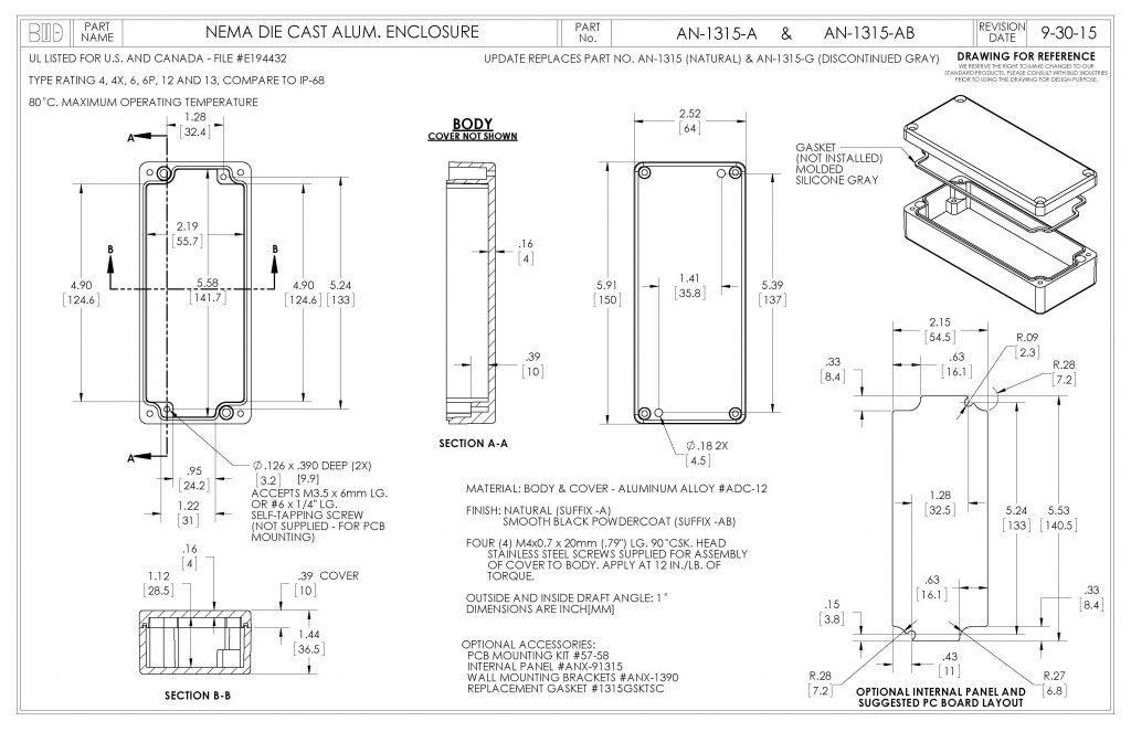 AN-1315-A Dimensions