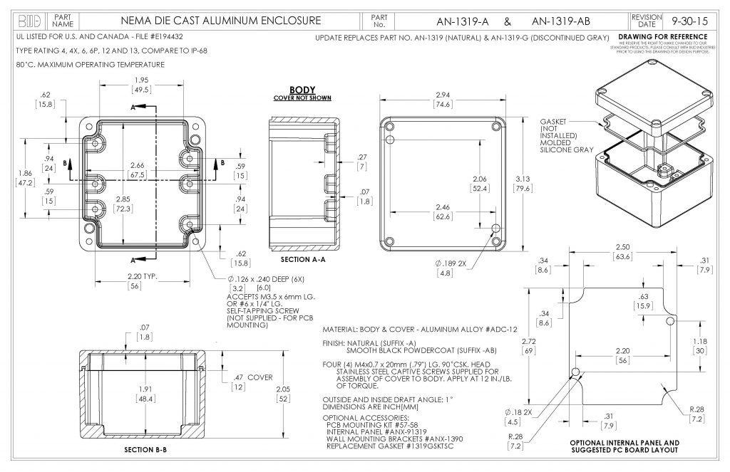 AN-1319-AB Dimensions