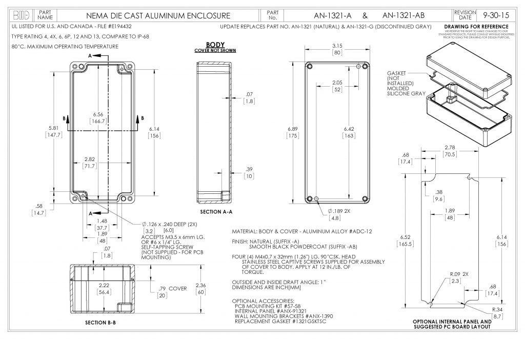 AN-1321-AB Dimensions