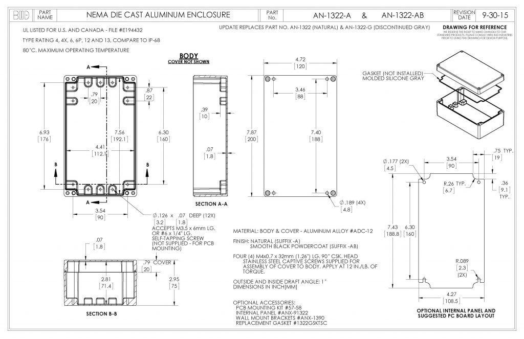 AN-1322-AB Dimensions
