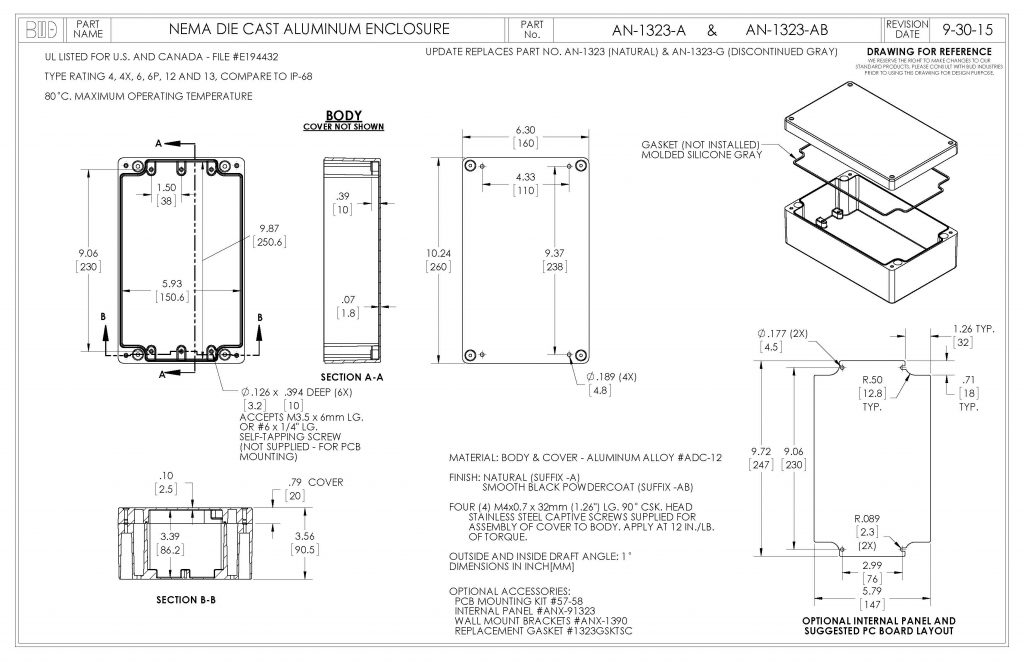 AN-1323-AB Dimensions