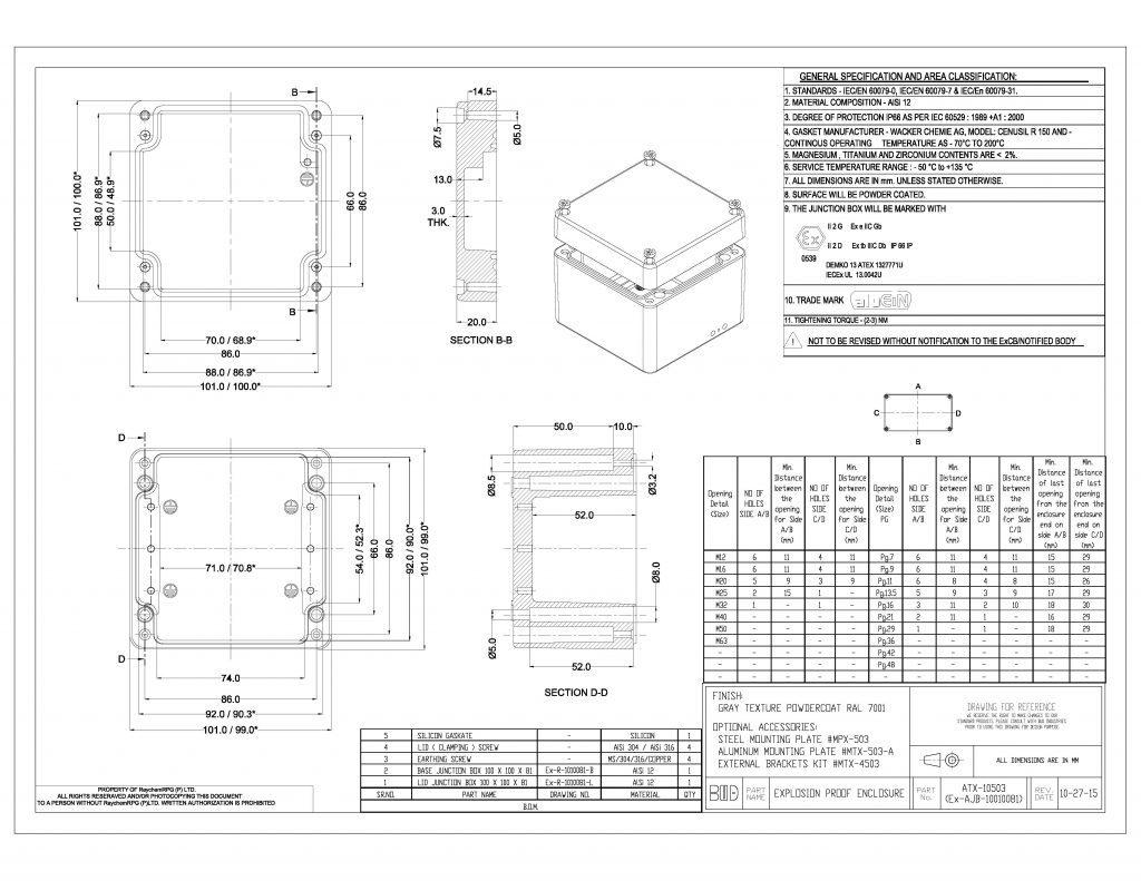 ATX-10503 Dimensions