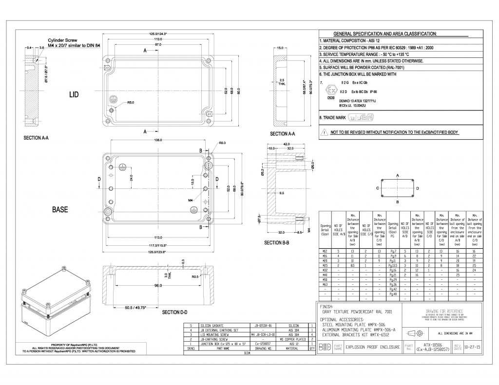ATX-10506 Dimensions