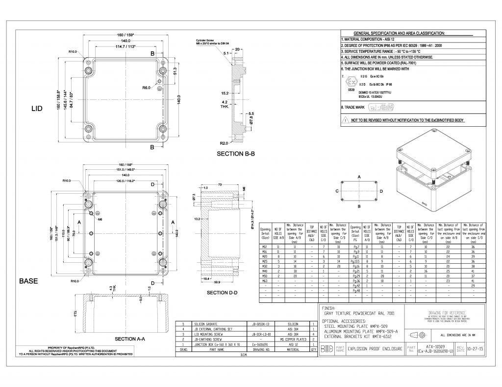 ATX-10509 Dimensions