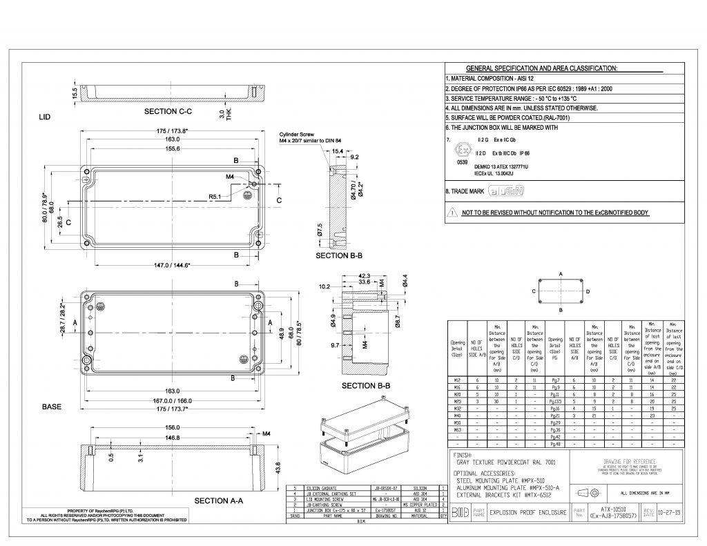 ATX-10510 Dimensions