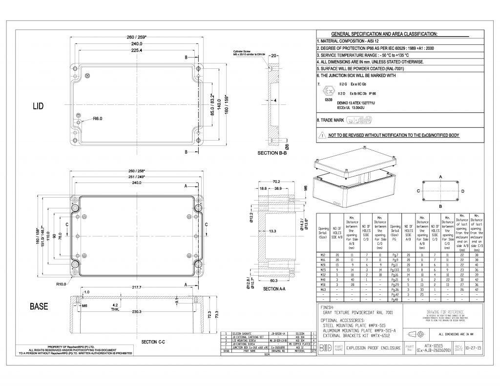 ATX-10515 Dimensions