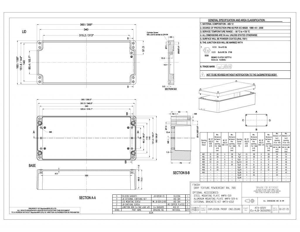 ATX-10519 Dimensions