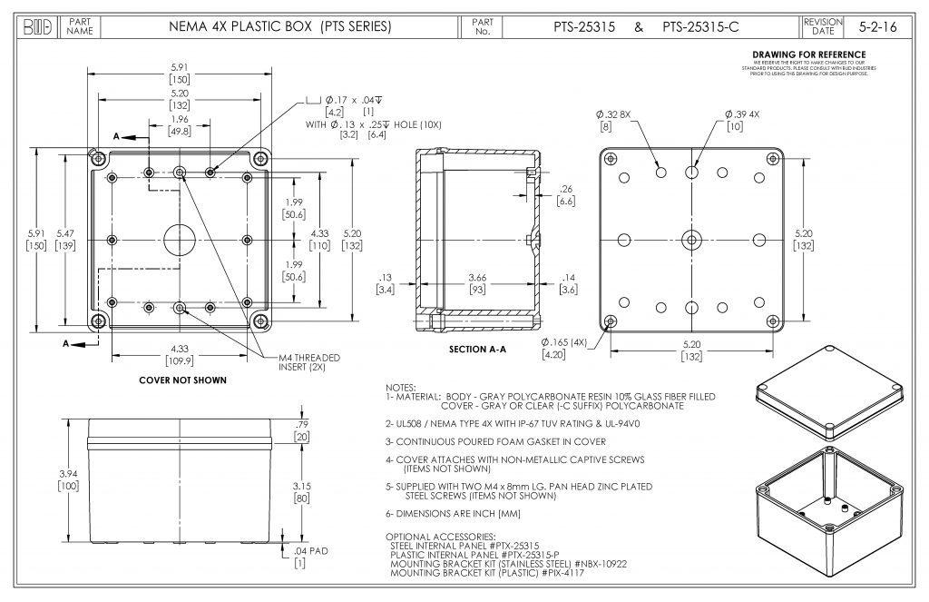 PTS-25315-C Dimensions