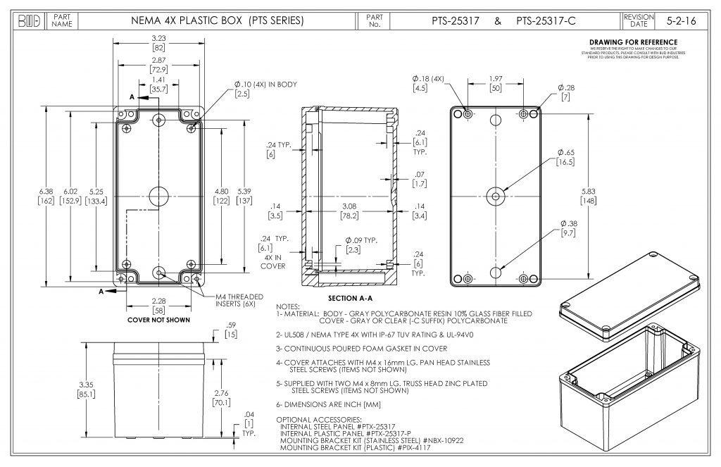 PTS-25317-C Dimensions