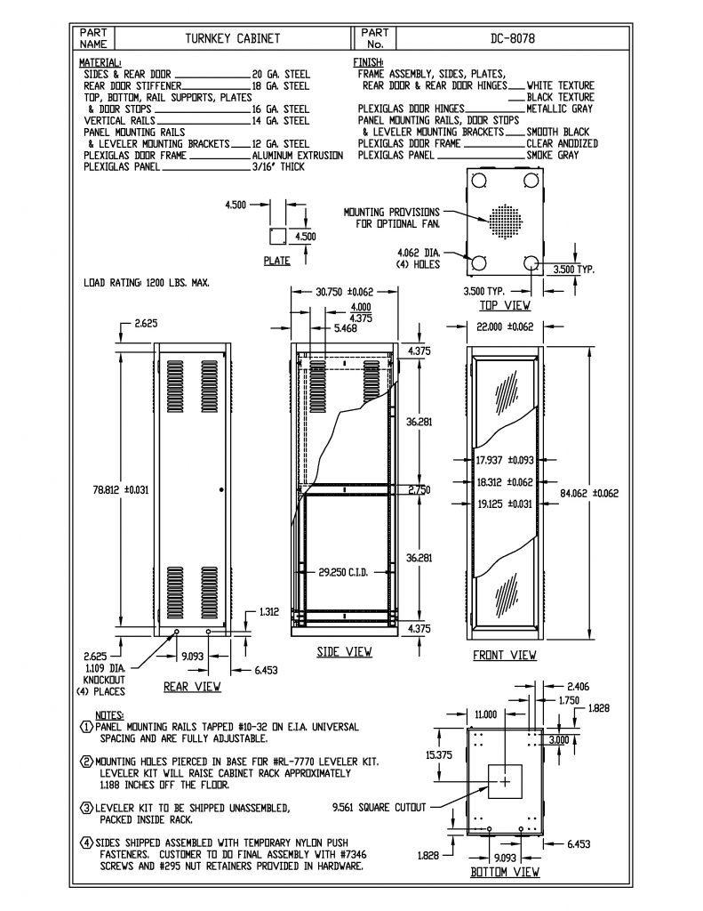 DC-8078-BT Dimensions