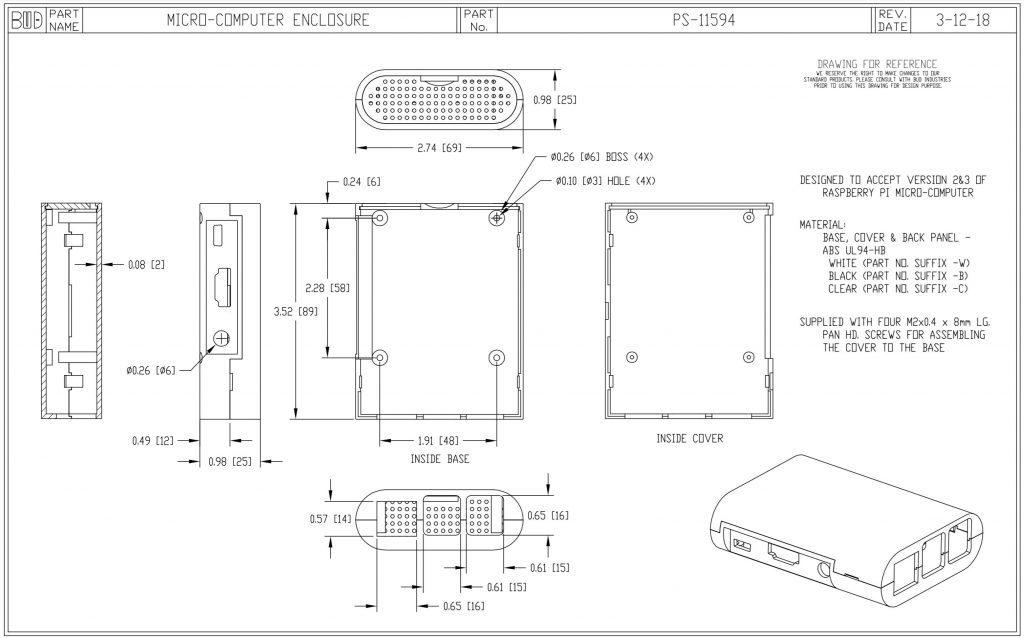 PS-11594-W Dimensions
