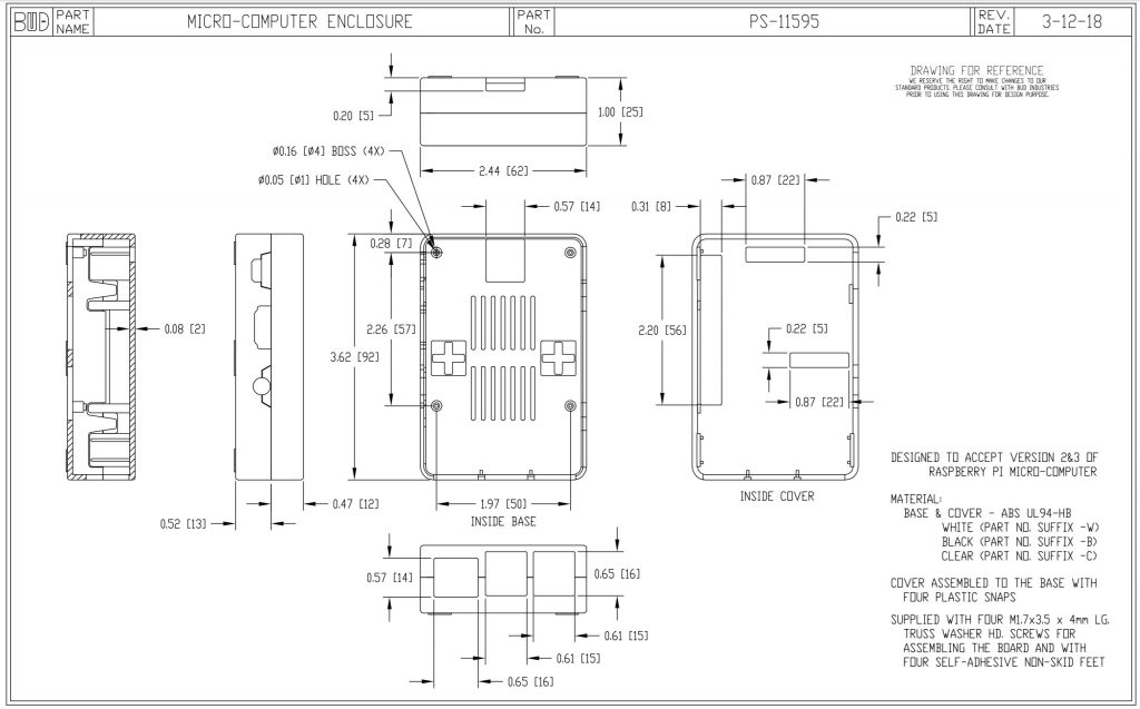 PS-11595-W Dimensions