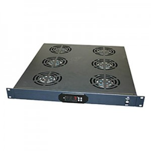 19-inch Rack Fan Tray Assembly with 6 Fans and Digital Temperature Controller