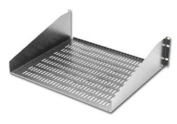 Equipment Shelf-Open Rack-Non-Ventilated 17.62 x 20 inches, SA-1752-BT, Black