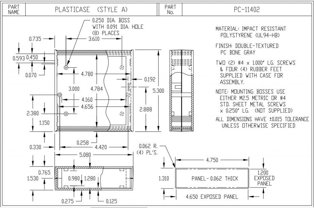 PC-11402 Dimensions