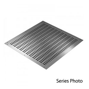 Small Rack Mount Chassis Cover, Non-Ventilated, 8 x 17 inches C-14441