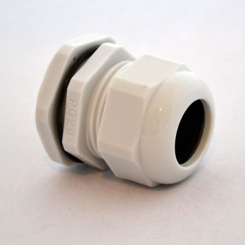 IP66 Nylon Cable Gland Thin Wall, Gray PG-29, for 0.71-0.98 Inch Cables