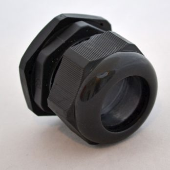 IP66 Nylon Cable Gland Thin Wall, Black PG-36, for 0.87 to 1.26 Inch Cables