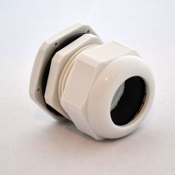 IP66 Nylon Cable Gland Thin Wall, Gray PG-36, for 0.87-1.26 Inch Cables