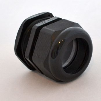 IP66 Nylon Cable Gland Thin Wall, Black PG-63, for 1.65-1.97 Inch Cables, Black
